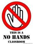 no hands up